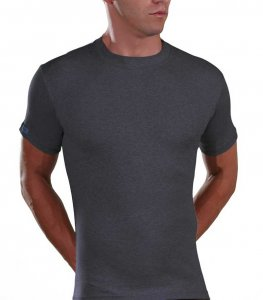 Lord Melange Short Sleeved T Shirt Charcoal 183