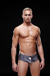 Envy Liquid Metal Low Rise Boxer Brief Underwear Black E031