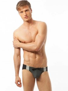 N2N Bodywear University Comp Bikini Swimwear Charcoal C20