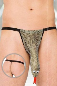 Clearance Softline Snake G String Underwear Silver 4440