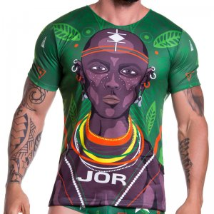 Jor MASAI Short Sleeved T Shirt Green 0750