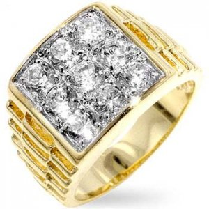 J Goodin Cubic Zirconia Men's Ring R06055T-C01