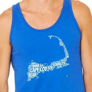 4 Labels Cape Cod Tank Top T Shirt Royal Blue