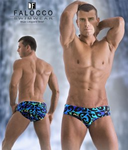 Falocco Collection Blue Grotto Swimmer's Brief Swimwear