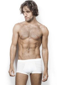 L'Homme Invisible Body Perfect Boxer Brief Underwear White MY20-001