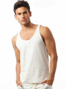 N2N Bodywear Beach Bum Tank Top T Shirt White BB3