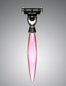 eShave Luxury Razors 3 Blades Nickle Plated Pink 773005
