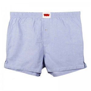 Levi's Classy Oxford Woven Cotton Loose Boxer Shorts Underwear Periwinkle