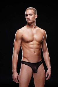 Envy Mesh Thong Underwear Black E008