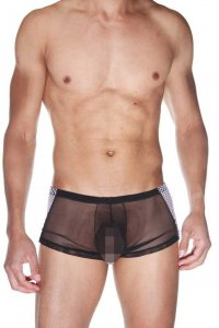 LaBlinque Combi Mesh Boxer Brief Underwear Black 15502