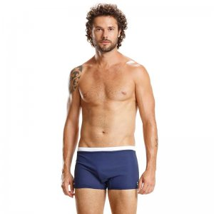 Mar Rio Boxer Sunga Square Cut Trunk Swimwear Navy Blue/Whit...