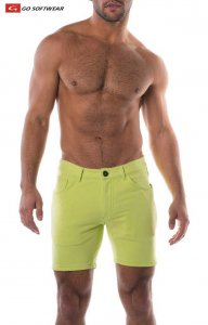 Go Softwear South Beach Princeton 5 Pocket Shorts Citron 477...