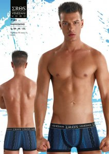 Eros Veneziani Chain & Stripe Boxer Brief Underwear 7141