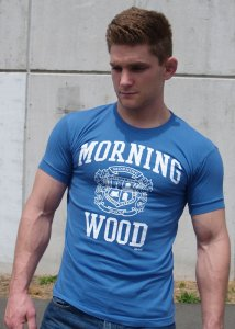 Ajaxx63 Morningwood Athletic Fit Short Sleeved T Shirt Blue AS33
