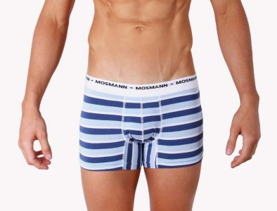 Mosmann Riviera Boxer Brief Underwear Blue/Light Blue EC2230