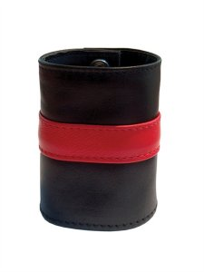 Mister B Leather Stripe Zip Wrist Wallet Black/Red 411330