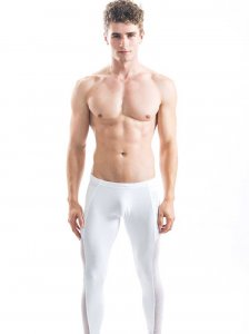 N2N Bodywear Galaxy X Runner Pants White R61