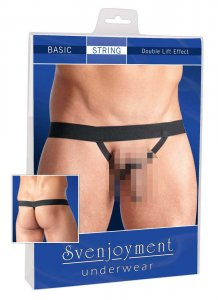 Svenjoyment Double Lift G String Underwear Black 2111195