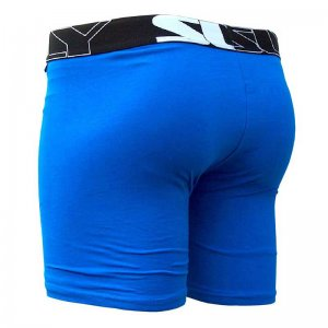 Sly Underwear Solid Boxer Brief Underwear Blue BUPSBL
