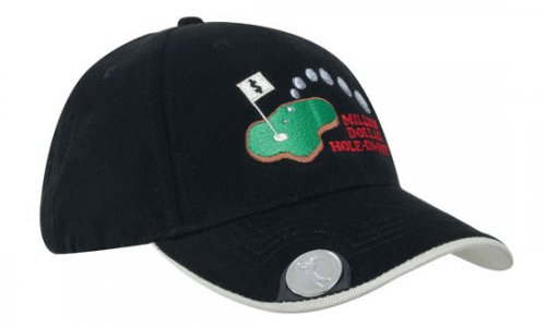 Headwear Professional 6 Panel BHC Golf Cap With Magnetic Mar...