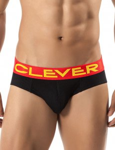 Clever Burdeos Latin Brief Underwear Black 5233