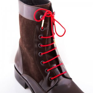 Bondi Laces Boot Laces Waratah red / Gold Tips BOOTRE1G