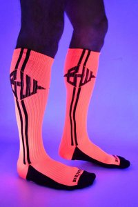 Breedwell Blacklight Icon Socks Neon Pink BW01500