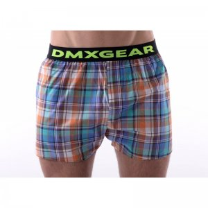 DMXGEAR Tartan Luxury Loose Boxer Shorts Underwear Orange DM...