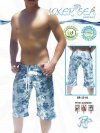 Icker Sea Flowers Bermuda Boardshorts Beachwear Grey/Blue BR-12-01