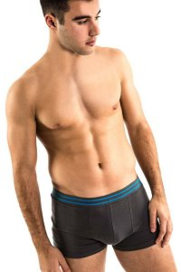 [2 Pack] Ready Wear Double Front Pouch Trunk Underwear Charcoal 4188