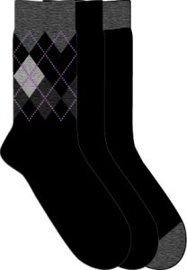 [3 Pack] 2xist Argyle Socks Black 19G061-KMHPH