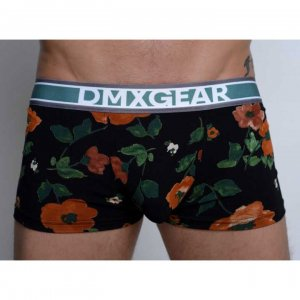 DMXGEAR Flora Luxury Short Legs Boxer Brief Underwear Black/...