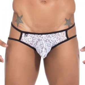 Joe Snyder Bulge Cut Out Bikini BUL07 Lace White Underwear & Swimwear