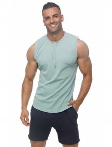 Marcuse Hero Muscle Top T Shirt Dusty Blue