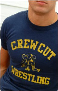 Ajaxx63 T Shirt Crew Cut Wrestling AS37