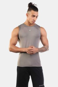 Jed North Synergy Muscle Top T Shirt Grey JNTOP026