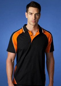 Aussie Pacific Panorama 180gm Poly/Cott DriWear Pique Knit Cottoback Polo Short Sleeved Shirt 1309