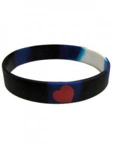 DBE Leather Pride Silicone Armband