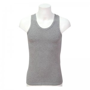 Minerva Sporties Basic Vest Muscle Top T Shirt Grey 10140