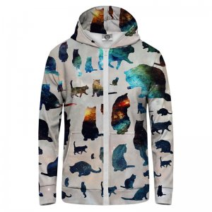 Mr. Gugu & Miss Go Galaxy Cats Unisex Zip Up Hoodie H-PC047