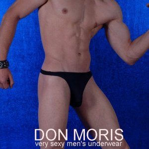 Don Moris Plain Thong Underwear Black DM080802