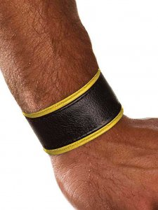 Colt Leather Wrist Strap Yellow