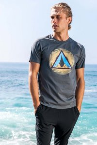 Sauvage Burst Short Sleeved T Shirt Charcoal