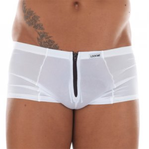 Lookme Wiz Zip Boxer Brief Underwear White 16-67