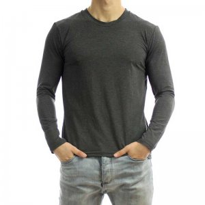 Bia Boro Basic Hybrid Scoop V Neck Long Sleeved T Shirt Gre...