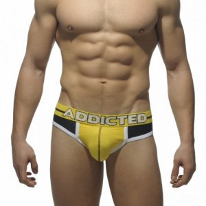 Addicted Sports Jock Brief Jock Strap Underwear Black AD312