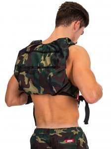 Barcode Berlin Devil Soul Backpack Bag Green/Camouflage 9134...