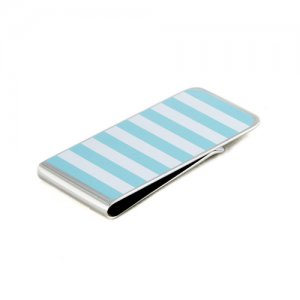 Ulterior Motive Sea Horse Money Clip Turquoise/White