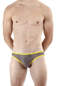 L'Homme Invisible Voile Bikini Underwear Grey MY44-YIN-014