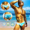 Clearance Icker Sea Blue Waves Slip Bikini Swimwear COB-14-BW03